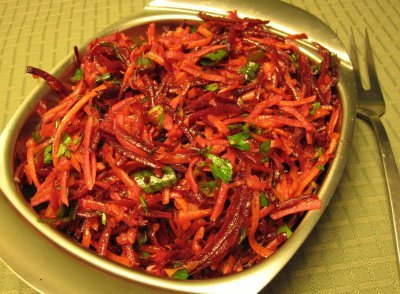 Shredded Beet, Apple and Carrot Salad | The Joy of Mindful Cooking