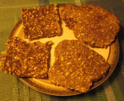Sesame Sunflower Flat Bread or Cracker | The Joy of Mindful Cooking
